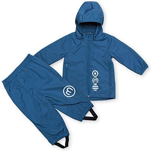 MINYMO Softshell Kombination, Jacke mit passender Hose (blau, 116)