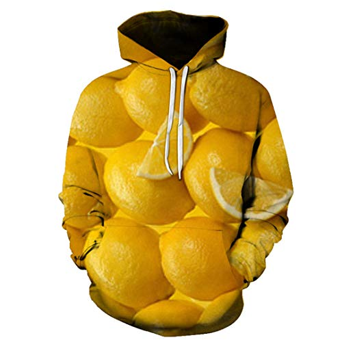 Männer beiläufige Hoodies 3D-Druck Obst Masken, Wassermelone, Banane, Apfel Jersey, Teens Herbst Hip-Hop-Sweatshirt 5116 XXL