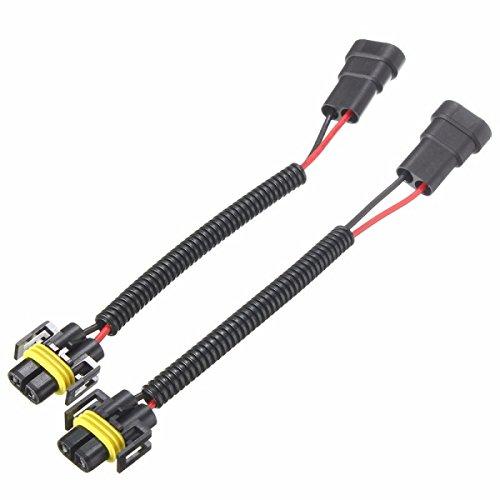 ILS - 2 pcs 9006 A H11 H8 conversie koplampen Connector Kabels Kabels Bekabeling