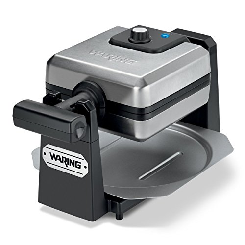 Waring Pro WMK250SQ 4-Slice Belgian Waffle Maker, Stainless Steel/Black (Renewed)