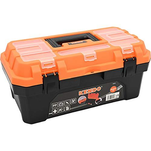 ツールボックス 工具箱 プラスチック 道具箱 ブラック オレンジ バイカラー Sサイズ メカニック 工具入れ