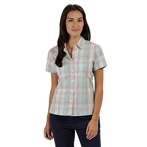 Regatta Jenna II Chemises à Manches Courtes pour Femme XXL Vert Jade