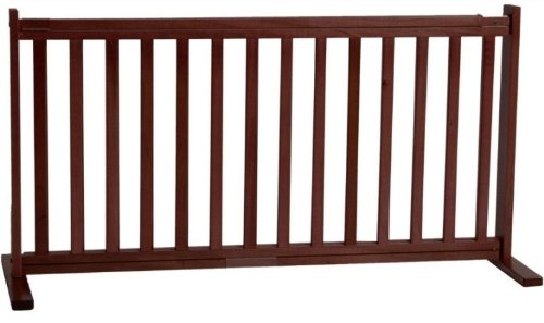 Dynamic Accents All Wood Freestanding Pet Gate...