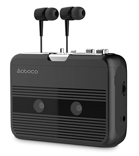 AOBOCO Bluetooth Cassette Player, Tape Player With Headphone Portable...