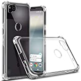 Google Pixel 2 Shock Proof Case with 4 Reinforced Corner Cushions Soft...