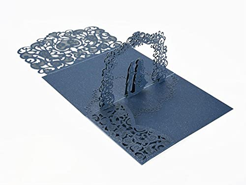 10Pieces/package European-style Hollow Three-dimensional Greeting Card Invitation 3D Card Customization