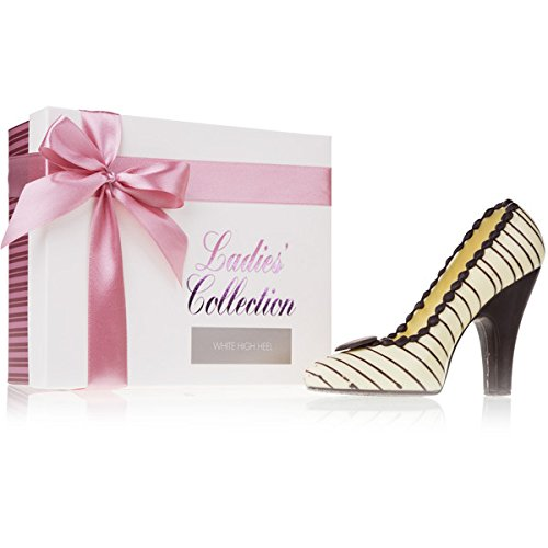 Chocolate High heel White - Schokoladenfigur in Form eines Schuhs - Schokolade - Geschenk - Frauengeschenk