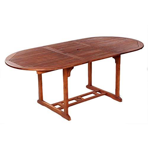 Dioche Tavolo da giardino, 200 x 100 x 74 cm, pieghevole, in legno di acacia massiccio, tavolo da...