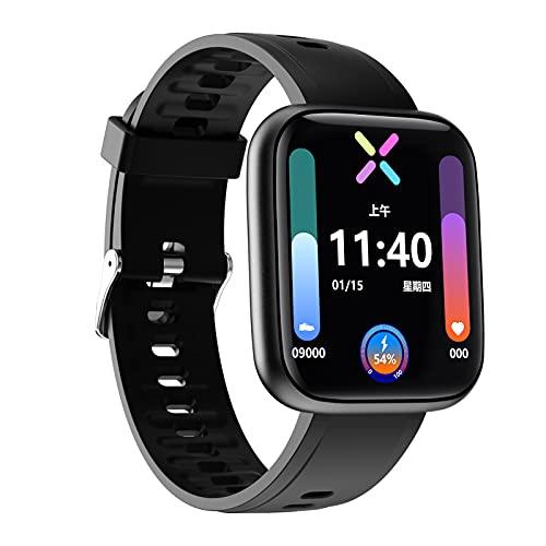 BNMY Smartwatch Reloj Inteligente Impermeable IP68 para Hombre Mujer Niños Pulsera De Actividad Inteligente con Monitor De Sueño Contador De Caloría Pulsómetros Podómetro para Android iOS,Negro