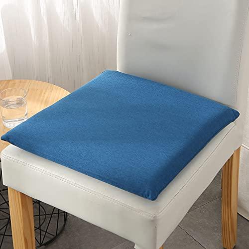 MissW Cojín Cuadrado Cojín De Silla Engrosado De 40X40 Cm con Cremallera Y Núcleo Cojín Lavable Simple De Color Sólido Adecuado para Sillas De Coche