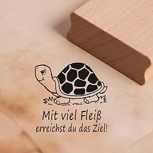 Sello con mucho carne alcanzas el objetivo, diseño de tortuga aprox. 28 x 28 mm