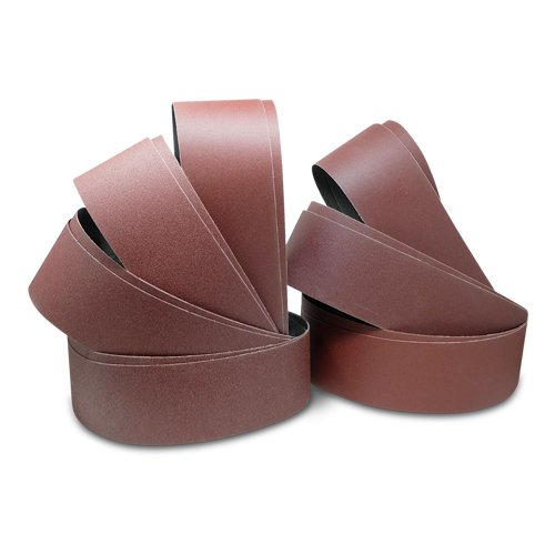Red Label Abrasives 4 X 36 Inch Aluminum Oxide Sanding Belts - 60, 80, 100, 120, 150, 180, 220 Grits - 14 Pack Assortment