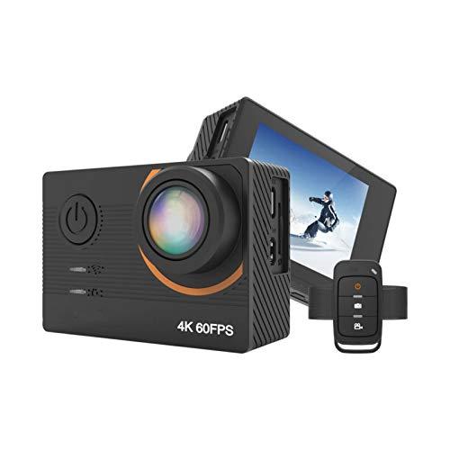Cámaras de acción estabilizador WiFi vídeo 4K Ultra HD EIS cámara deportiva impermeable con mando a distancia recargable para escalada