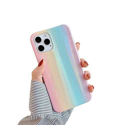 Cocomii Holographic Rainbow iPhone 12 Pro Max Case, Slim Thin Glossy Soft TPU Silicone Rubber Gel Shiny Reflective Gradient Fashion Bumper Cover Compatible with Apple iPhone 12 Pro Max 6.7' (Rainbow)