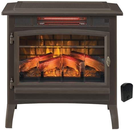 Duraflame 3D Infrared Electric Fireplace Stove with Remote Control DFI 5010 Bronze Crackler product image