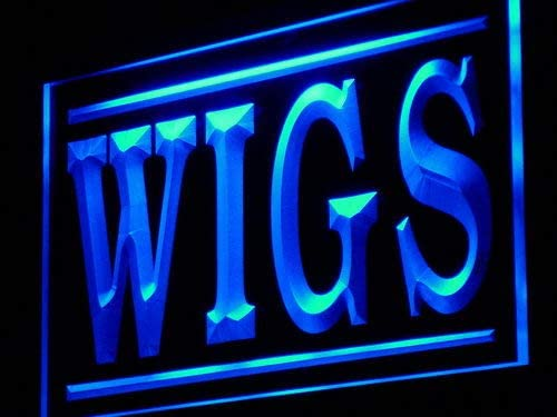ADVPRO Wigs Shop Display Adv LED Neon x s Blue Inches Genuine Sign 24 Surprise price 16