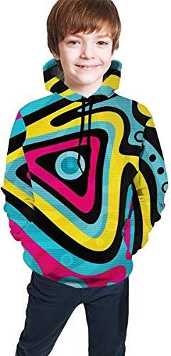 EYSKJ Kapuzenpullover Colorful Graffiti Youth Boys Girls 3D Print Pullover Hoodies Hooded Seatshirts Sweater