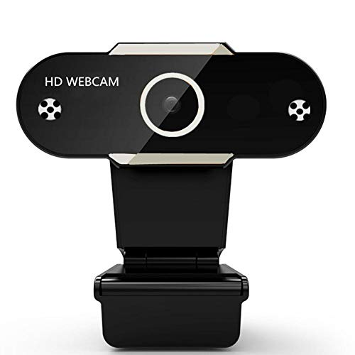 CALISTOUK USB Computer Webcam Drive-Free 1080p HD Web Camera With Lens Dual Mic Dust Cover for Desktop PC/Laptop/TV Video Calling Conferencing