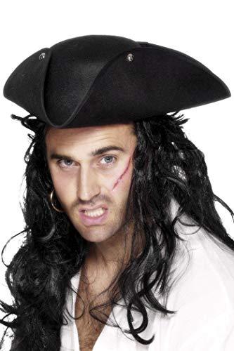 Piratenhut Dreispitz Piraten Kapit�n Pirat Seer�uber Hut