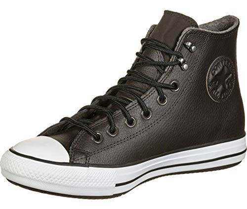 Converse Damen Chuck Taylor All Star Water-Resistent Leather High Top modischer Stiefel, Samt braun/weiß/schwarz, 42 EU