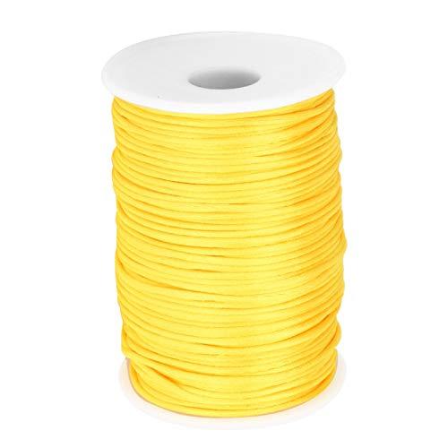 Disfraz de cordn de satn de nailon suave para letreros de micro tejido(Golden)
