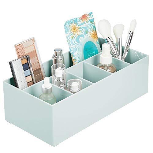 mDesign Schminkaufbewahrung für Wasch- oder Schminktische – Aufbewahrungsbox aus BPA-freiem...