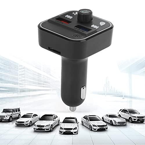 Gaeirt Receptor Bluetooth para automóvil, Adaptador de Corriente Compacto, Equipo de Manos Libres inalámbrico para automóvil para Disfrutar de un Sonido de Graves intensos