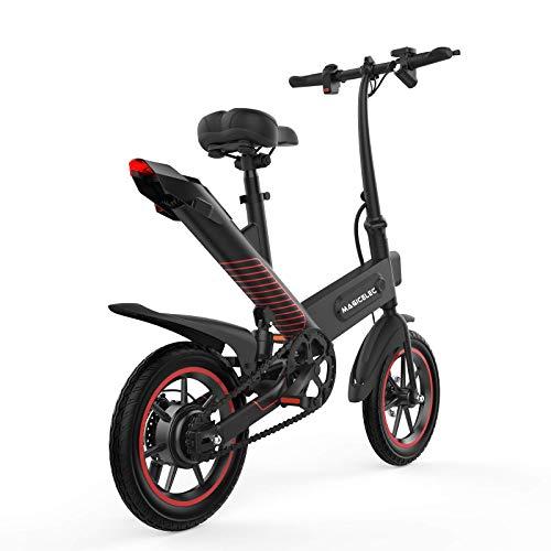 Elektrofahrrad, faltbares Elektrofahrrad 350W Motor, 3-Arbeitsmodus, 14-Zoll-Reifen E-Bike City-Fahrrad mit Pedal, zentrale Stoßdämpfung, 40-50 km Reichweite im Freien