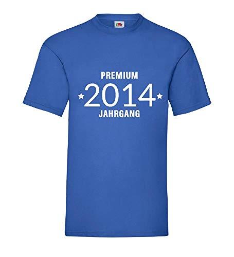 Shirt84.de - Camiseta para hombre, diseño del año 2014 azul real L