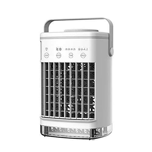 GFDFD Acondicionador De Aire Portátil, Ventilador De Aire Acondicionado Evaporativo con Unión De Agua De Acampada De Tanques De Agua, Refrigerador De Aire Personal De Escritorio