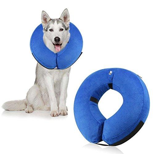 Kingsie エリザベスカラー ソフト 浮き輪タイプ プロテクター 傷口保護 保護カバー 首輪 全5サイズ選ぶ (L)