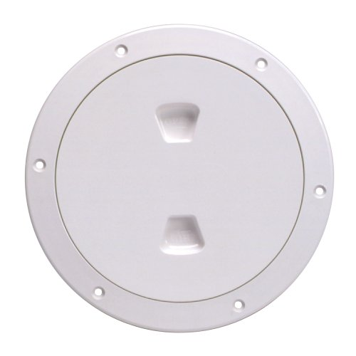 Beckson DP60-W Screw-Out Deck Plate (White), 1 Pack