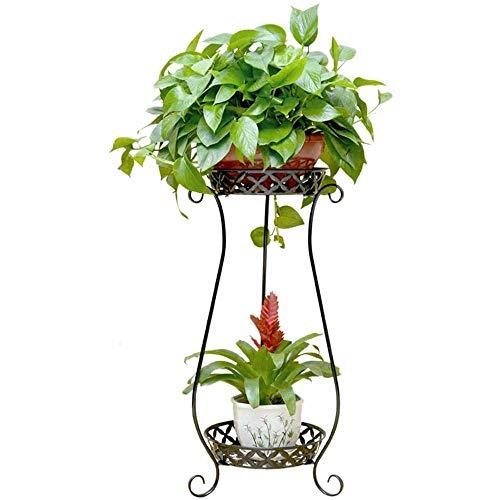 Bloembak, metaal, fabriek, 2 ladders, bloemenstandaard voor bloempot, decoratie, huis, tuin, terras, hal, plank, bloembak, 70 cm