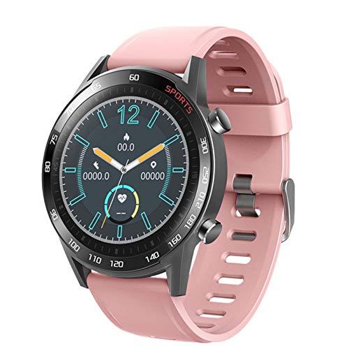 ZYDZ T23 Blutooth Smart Watch Fitness Tracker Monitor De Ritmo Cardíaco Monitor Smartwatch Men's Women's Sports Pulsera De Fitness para Android iOS,A