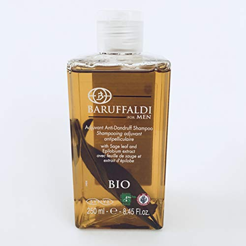 Shampooing Adjuvant Antipelliculaire avec Feuille de Sage et Extrait de l'Epilobe 250 ml - BaruffaldiBio for Men Made in Italy