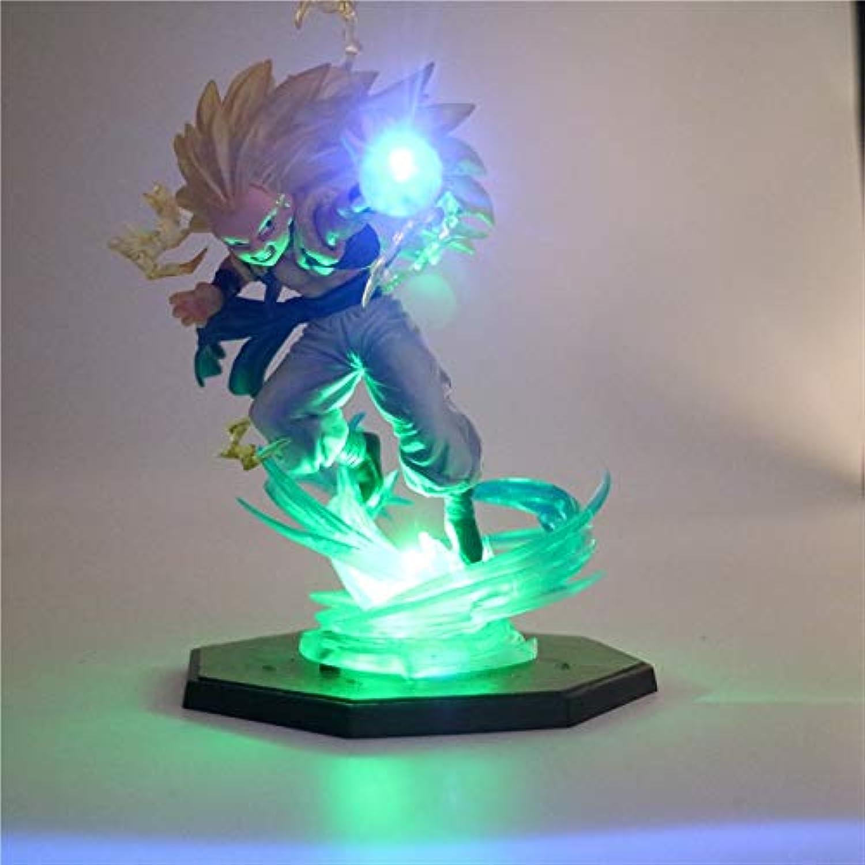 Dragon Ball Z Son Goku Super Saiyajin Action Figuren 2 Farbe 3D Nachtlicht Diy Anime Modell Tisch Lampe Anime Dragon Ball Spielzeug Lampe