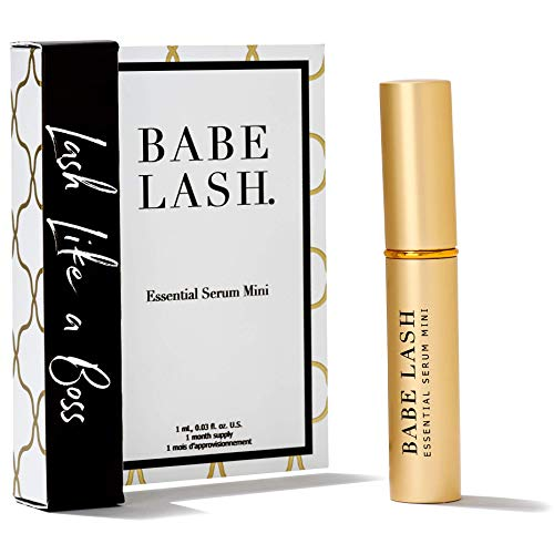 Babe Lash Eyelash & Brow Enhancer Serum for Natural, Fuller & Longer Looking Eyelashes - Eyelash Booster Hydrates Lashes - Used on Lash, Brow & Lash Extensions - 1 ML