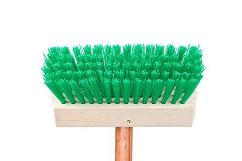 カワタキコーポレーションデッキブラシベージュ×グリーンサイズ:113×19×6cmヘッド部毛丈:4cm