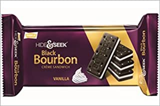 Parle Hide & Seek Black Bourbon Vanilla Creme Sandwich - 100 Grams (Pack of 3)