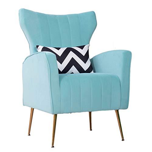 YANGDONG Silla De Sofá Individual, Diseño Luminoso Y Moderno, Relleno De Esponja, Adecuado para Una Pequeña Sala De Estar/Arreglo De Dormitorio (Color : Sky Blue)