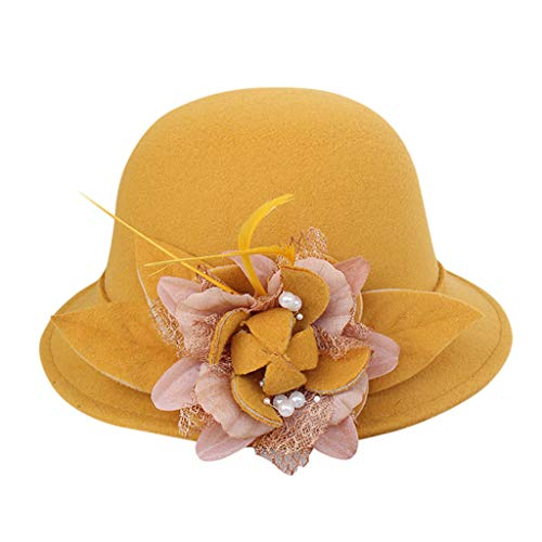 jieGorge Women Fashion Beret French Style Painter Hat Cap Vintage Warm Party Top Hat, Hat, Clothing Shoes & Accessories (Yellow)