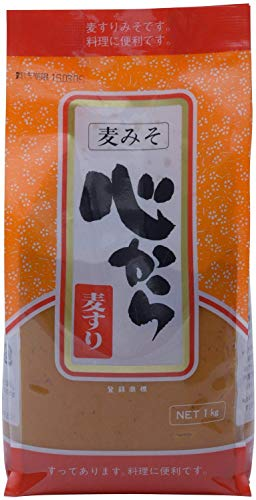 [キンコー醤油] 心から麦すり (甘口 麦みそ) 1�s 国内産大豆を100% 使用 すり味噌