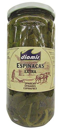 DIAMIR espinacas extra frasco 400 gr