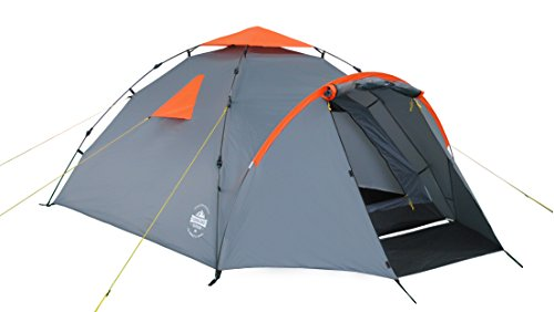 Lumaland Tienda de campaña Familiar Light Pop Up 3 Personas Camping Acampada Festival 220 x 220 x 130 cm Gris