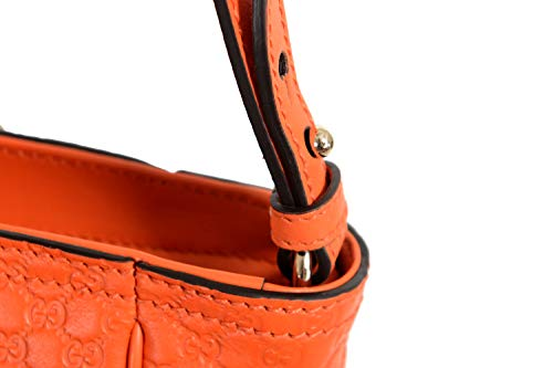 Fashion Shopping Gucci 100% Leather Orange Women's Handbag Shoulder Bag