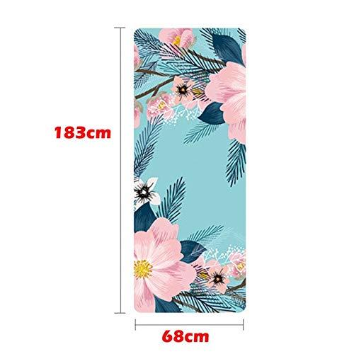 N / A 1830 * 680 * 1.5mm Estera de Yoga Ultra Delgada Impreso Yoga Portátil Plegable Absorbente de Sudor y Antideslizante Estera Gimnasia Esteras de Yoga 183x68x0.15CM