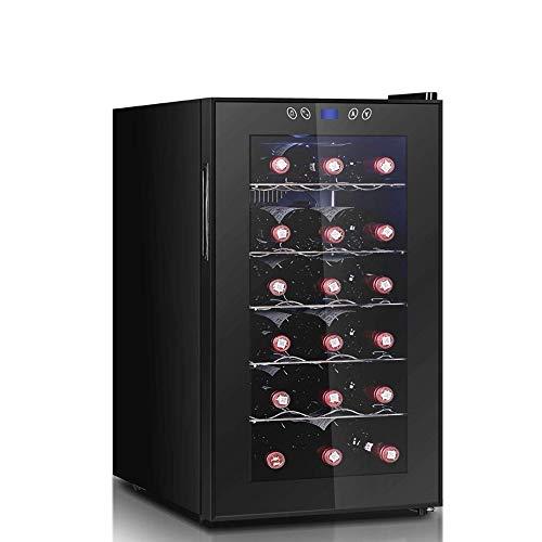 CHENMAO Temperatura y Humedad constantes gabinete del Vino, 18 Botellas de Independiente Funcionamiento silencioso Frigorífico de Doble Capa Hueco de la Puerta de Vidrio Templado
