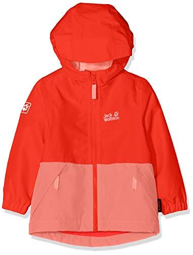 Jack Wolfskin Kinder Snowy Days Jacket Kids Wetterschutzjacke, Fiery red, 116