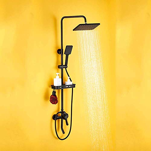 OutingStarcase Todo-cobre Ducha Europea Conjunto de pared grifo de Hogares bidet bañera Negro presurizado boquilla grande 3 Archivo Fácil de instalar Hermosa práctica