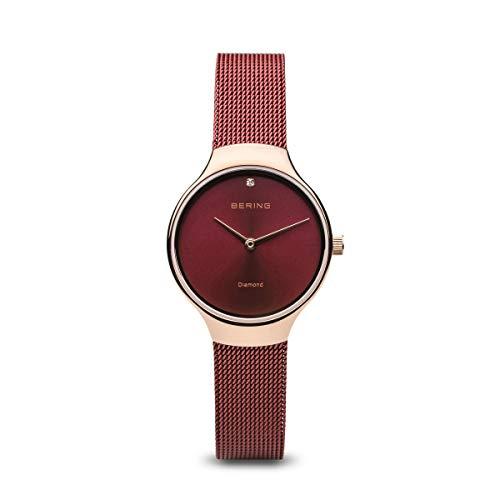 BERING Damen Analog Quarz Uhr mit Edelstahl Armband 13326-Charity